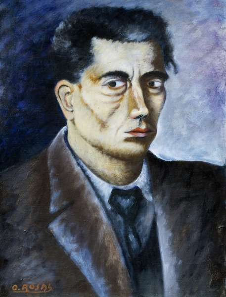 Self portrait, 1933, by Ottone Rosai (1895-1957), oil on canvas. Italy, 20th century.