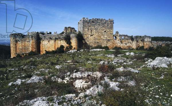 Saladin Castle or Qal'at Salah al-Din (Unesco World Heritage List, 2006), surroundings of Latakia, Syria, Fortress founded in the 10th century by the Byzantines and fortified by the Muslims in the 12th-13th century