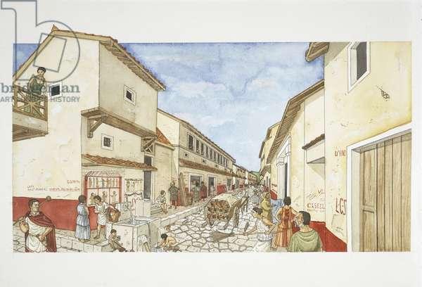 Ancient Rome, Pompeii, illustration