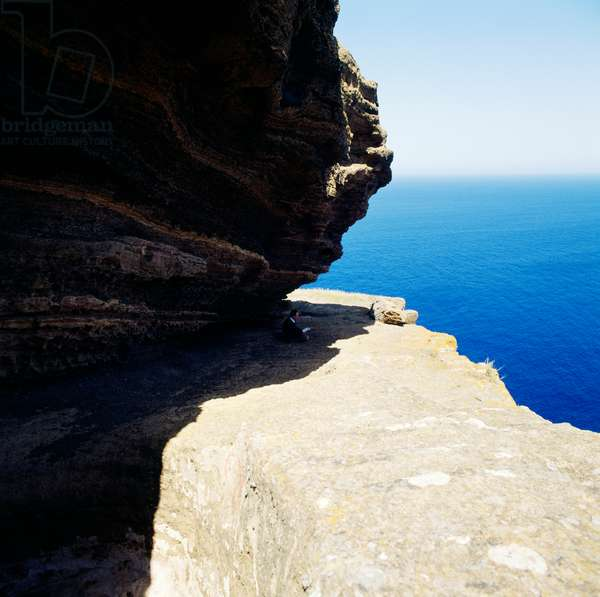 Glimpse of Falconiera, Ustica, Sicily, Italy