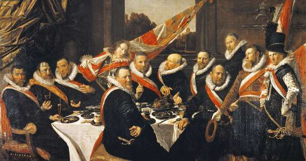 Banquet of Officers of Civic Guard of St George at Haarlem, by Frans Hals (circa 1581-1666)