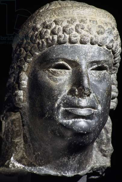 Head of Cleopatra III, basalt sculpture, Egyptian Civilisation, Ptolemaic Period, 2nd century BC
