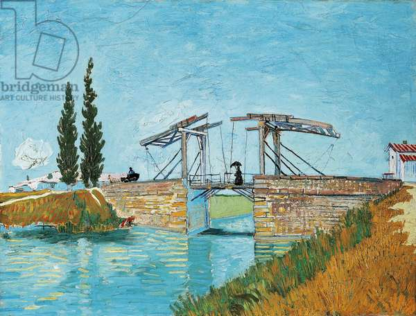 Langlois Bridge at Arles, by Vincent van Gogh (1853-1890)