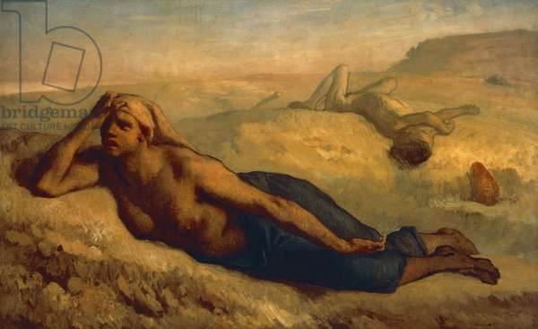 Hagar and Ishmael, by Jean-Francois Millet (1814-1875).