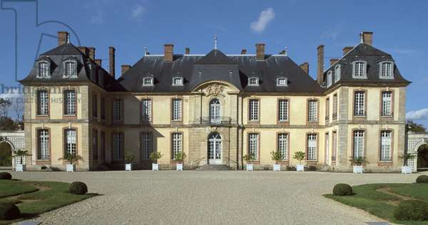 Chateau of La Motte-Tilly, 1754, by Francois Nicolas Lancret (1717-active from 1755), Nogent-sur-Seine, Champagne-Ardenne. France, 18th century.