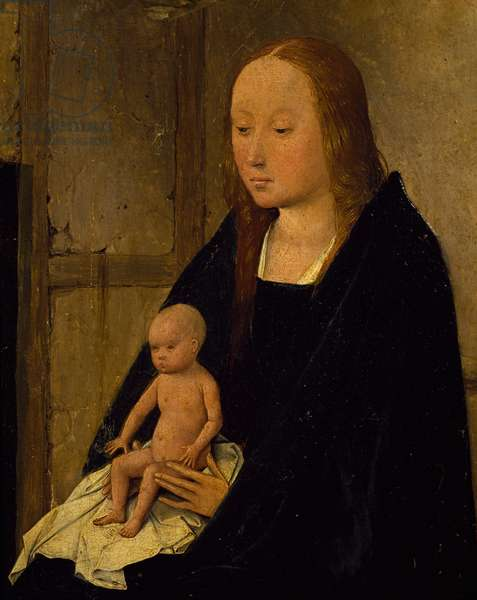The Virgin with Child, detail from Adoration of the Magi, by Hieronymus Bosch, 1510, oil on canvas, Circa 1450-1516, 138x144 cm