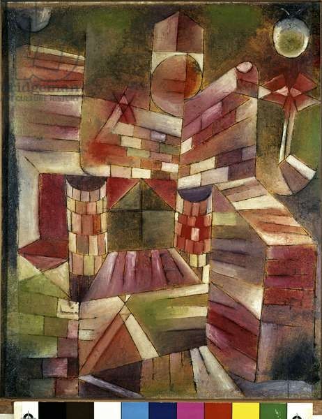Architecture from the Window, 1919  (huile et plume sur bois)