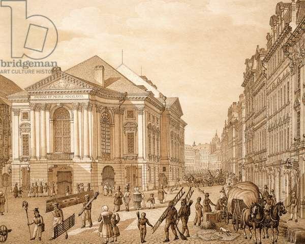 The Prague Summer Theatre, by Vincent Morstadt, Czech Republic, 19th Century Watercolor