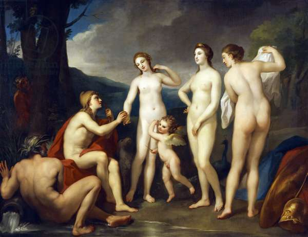 The Judgment of Paris, by Anton Raphael Mengs, 1757-1759, oil on canvas, 1728-1779, 226x295 cm