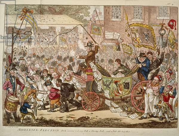 Elections, caricature by James Gillray, 1804
