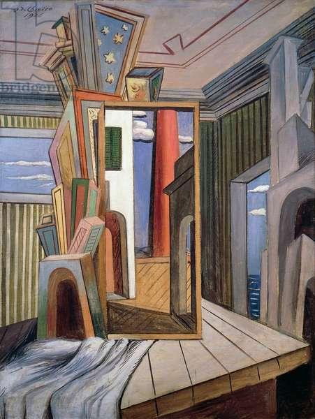 Metaphysical interior, 1926, by Giorgio de Chirico (1888-1978). Italy, 20th century.