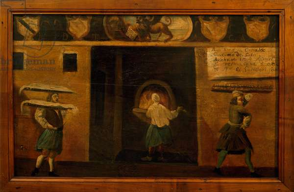 Signboard of Guild of baking in Venice, painting, Italy, 18th century