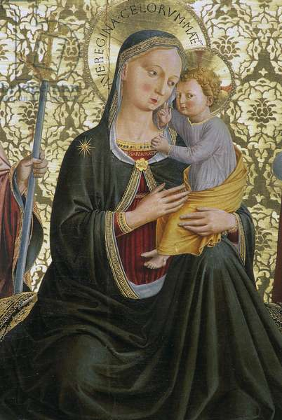 Madonna of humility, by Benozzo Gozzoli (1421-1497), Sapienza Nuova Altarpiece, Perugia, Umbria, Italy