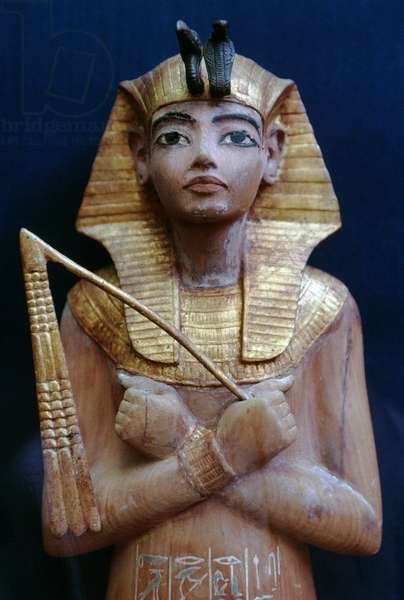 Funerary statuette (Ushabti), 1333-1323 BC, Treasury of Tutankhamun, Egypt, Egyptian civilization, New Kingdom, Dynasty XVIII, Detail