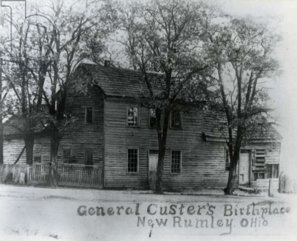 Birthplace of General George Armstrong Custer (1839-1876), in New Rumley, Ohio, United States of America, 19th century