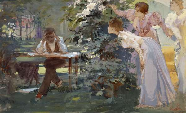 The book lover, 1896, by Frantisek Kupka (1871-1957), oil on canvas. Czech Republic, 19th century.