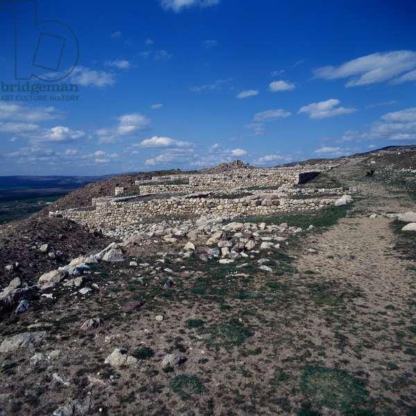 Palace area in Hattusa (Bogazkoy), capital of Hittite empire (Unesco World Heritage List, 1986), Bogazkale, Turkey, Hittite civilization, 2nd millennium BC