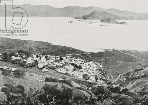 Mesampo bay, North Korea, Russo-Japanese war, photograph by GV Gianesi, from L'Illustrazione Italiana, Year XXXI, No 10, March 6, 1904