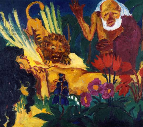 Death of St Mary of Egypt, 1912, by Emil Nolde (1867-1956), oil on canvas, 87x100 cm. Germany, 20th century.