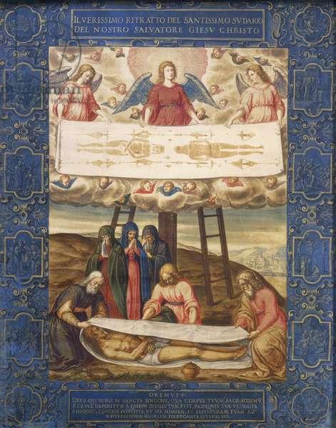 The Holy Shroud, by Giovanni Battista della Rovere (ca 1561-ca 1630), oil on canvas, 55x44 cm.