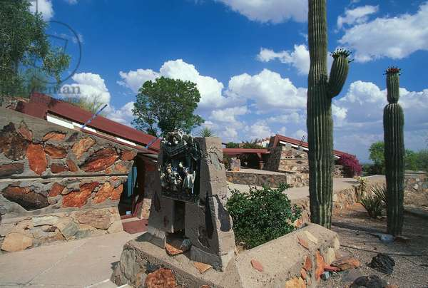 Taliesin West, 1937, by Frank Lloyd Wright (1867-1959), Scottsdale (Phoenix), Arizona, United States of America, Detail