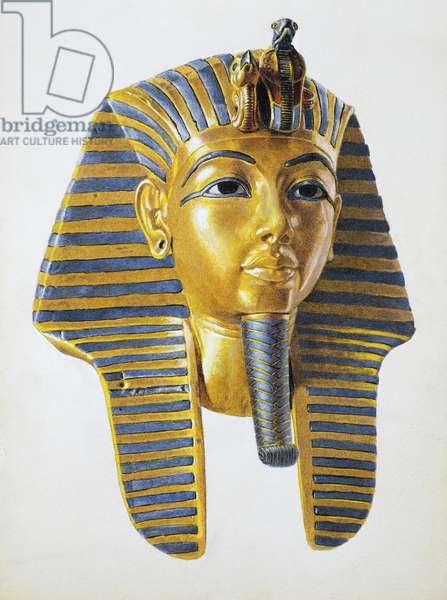 Mask of the Egyptian pharaoh Tutankhamen