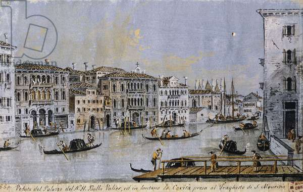 Grand Canal with Palazzo Balbi Venier, Francesco Guardi (1712-1793)