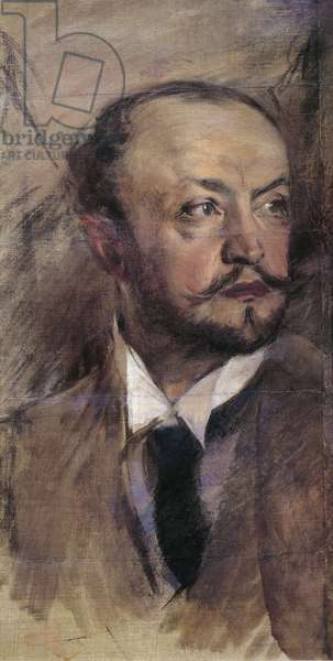 Italy, Florence, Self-Portrait in Montorsoli, oil painting