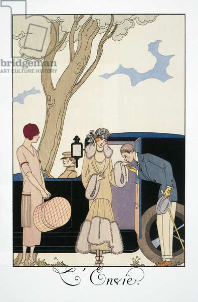 L'envie, by George Barbier (1882-1932), from Falbalas et Fanfreluches, Almanac 1925. France, 20th Century