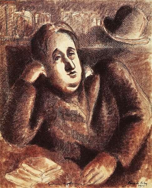 Portrait of Guillaume Apollinaire, pseudonym of Wilhelm Albert Wlodzimierz Apollinaris de Waz-Kostrowicky (Rome, 1880-Paris, 1918), poet and writer