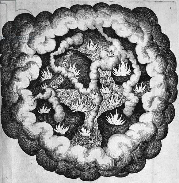 Primordial Chaos, illustration for Utriusque Cosmi, maiores scilicet et minores, metaphysica, physica atque technica Historia, by Robert Fludd, also known as Robertus de Fluctibus (1574-1637), engraving, published by Oppenheim, 1617