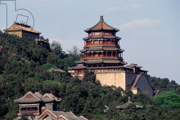 Tower of Fragrance of Buddha, Summer Palace (UNESCO World Heritage List, 1998), Longevity Hill, Beijing (Beijing), China, 18th century
