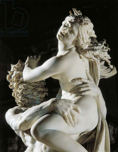 The Rape of Proserpina, 1621-22, detail (marble)