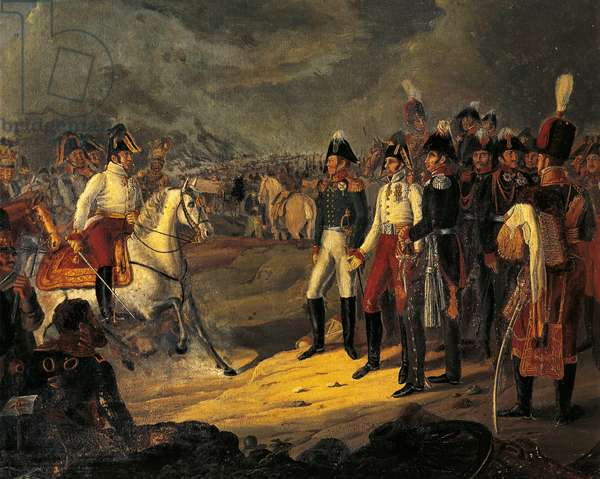Battle of Leipzig, known as Battle of Nations, October 16, 1813, Napoleonic Wars, Germany, 19th century