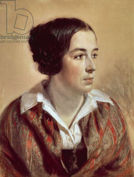 Portrait of Caroline Arnold, 1847, by Adolph Menzel (1815-1905)