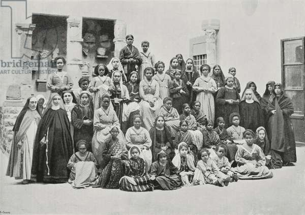 Students of Catholic missions being received by Pope Leo XIII, Rome, Italy, photograph by G Brogi, from L'Illustrazione Italiana, Year XXV, No 49, December 4, 1898