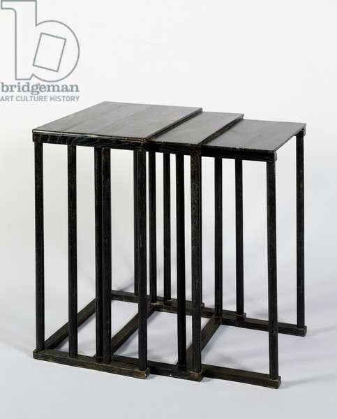 Stowaway tables (interlocking), 1950s
