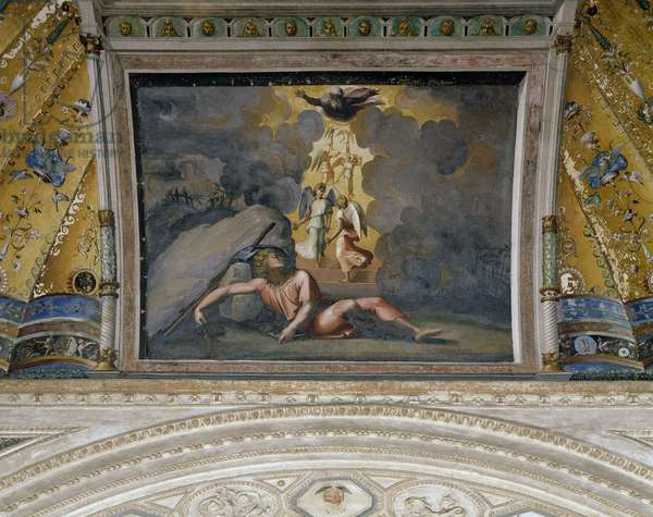 Jacob's dream, 1518-1519, workshop of Raphael (1483-1520), fresco, Raphael Loggias, Apostolic Palace, Vatican City