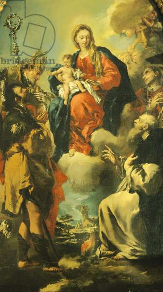 Madonna and Saints, by Giovanni Antonio Guardi (1699-1760) Church of Santa Maria Assunta, Vigo di Ton, Trento