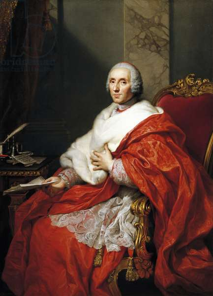 Portrait of Cardinal Alberico Archinto, by Anton Raphael Mengs, oil on canvas, 1728-1779, 155x113 cm