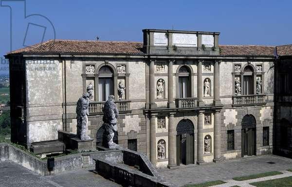 Villa Duodo Valier (1592-1593), architecture, Vincenzo Scamozzi,, Monselice, Veneto, Italy