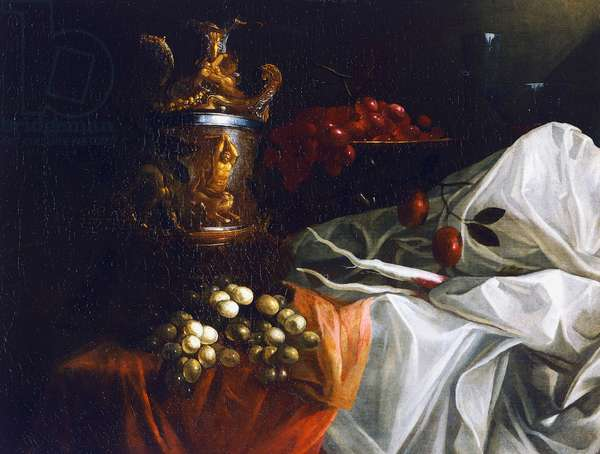 Still life with grapes, the Netherlands, 17th century, Detail