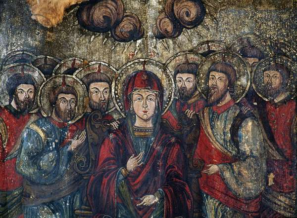 Pentecost, 18th century, preserved in National Museum of Art, Banffy Palace, Cluj-Napoca, Romania.