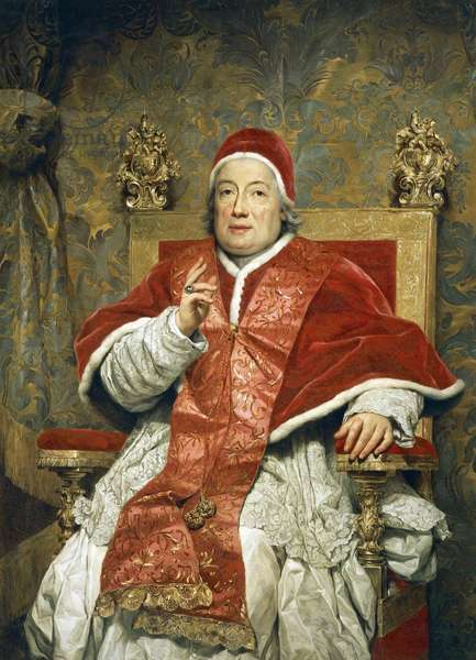 Portrait of Pope Clement xIII Rezzonico, by Anton Raphael Mengs, oil on canvas, 1728-1779, 100x85 cm