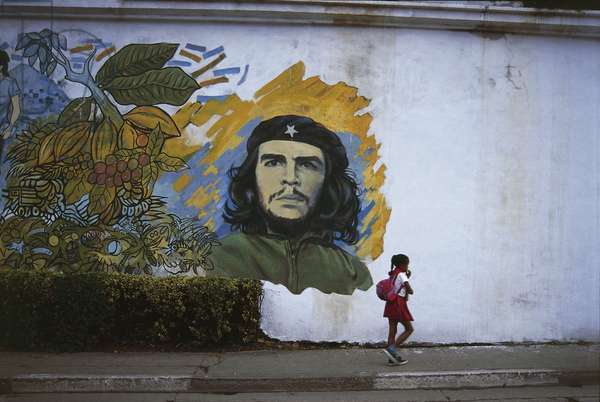 Mural of Che Guevara on the wall, Baracoa, Guantanamo, Cuba