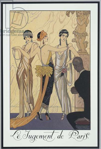 Falbalas et Fanfreluches, Almanac for 1924,The Judgment of Paris, by George Barbier, print