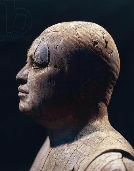 Statue of Ka-aper (also known as Ka aper ou Kaaper ou Sheik-el-balad ou Sheik el balad, Sheikh el Bal) from Saqqara, Egypt, 5th dynasty (Sycamore wood)
