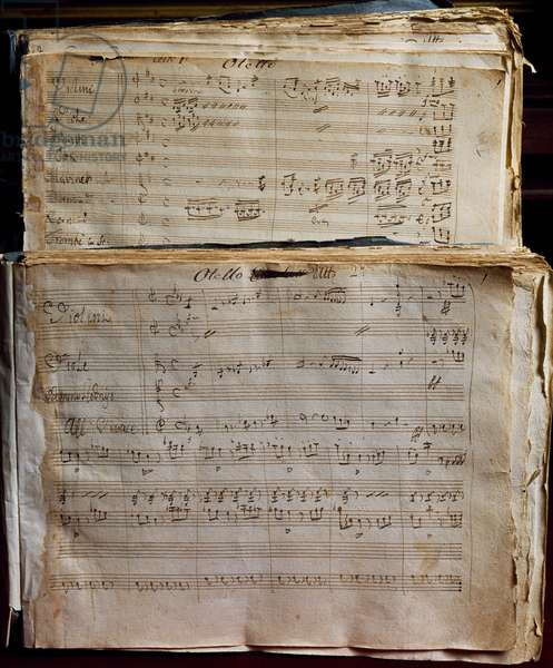 Handwritten score for Otello by Gioacchino Rossini (1792-1868), 19th century