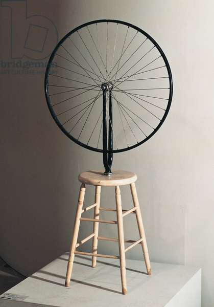 Bicycle wheel, 1964, replica of the original, 1913, by Marcel Duchamp (1887-1968), ready-made. France, 20th century.