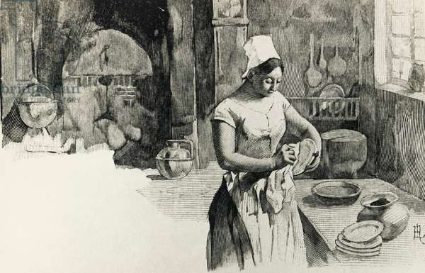 Illustration for Story of a farm girl, by Guy De Maupassant (1850-1893)